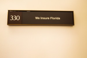 we insure florida suite 330 sign