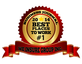business journal ribbon for we insure