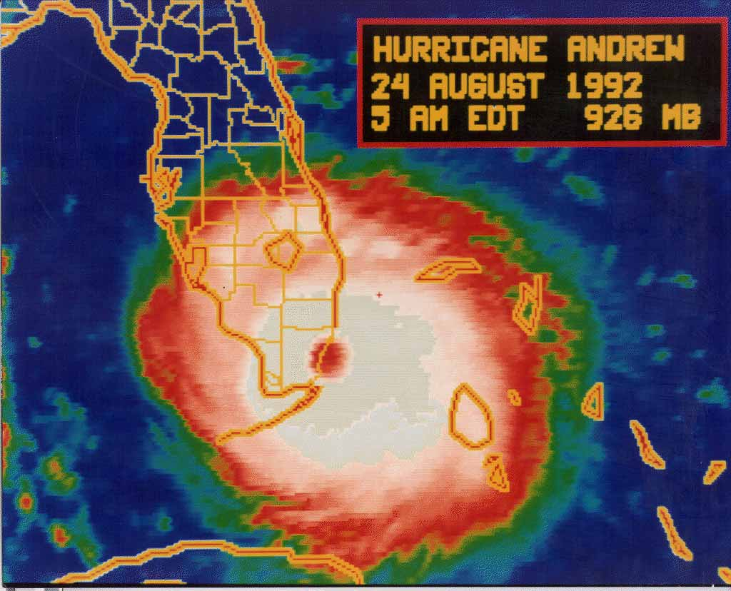 hurricane andrew over miami