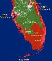 south florida flood area map