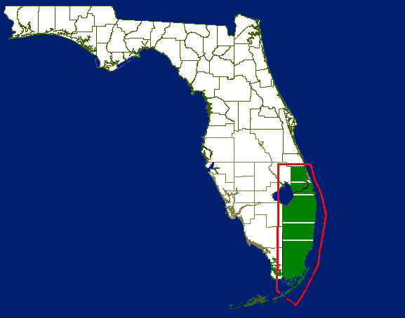 florida coastal map